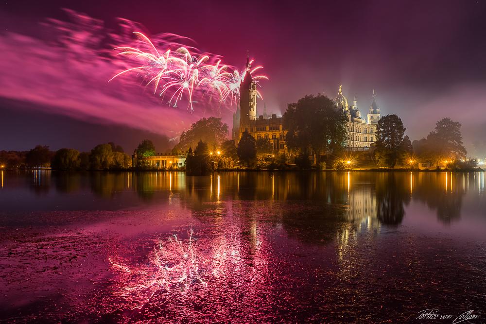 Feuerwerk über dem Schloss