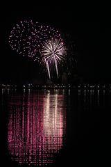 Feuerwerk über Heiligenhafen