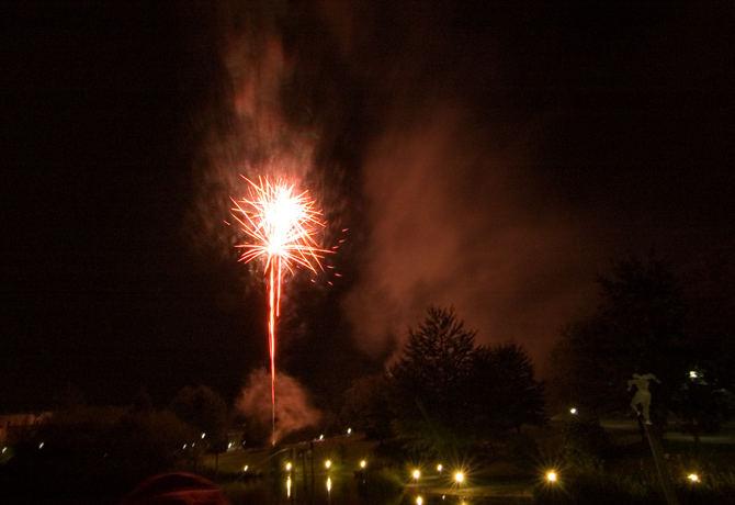 Feuerwerk über Kaarst