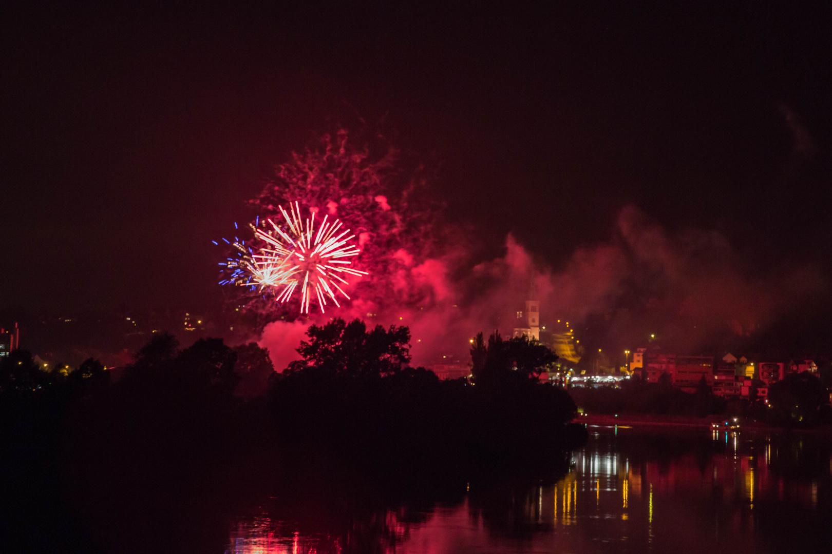 Feuerwerk über Laufenburg