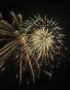 Feuerwerk über Leer