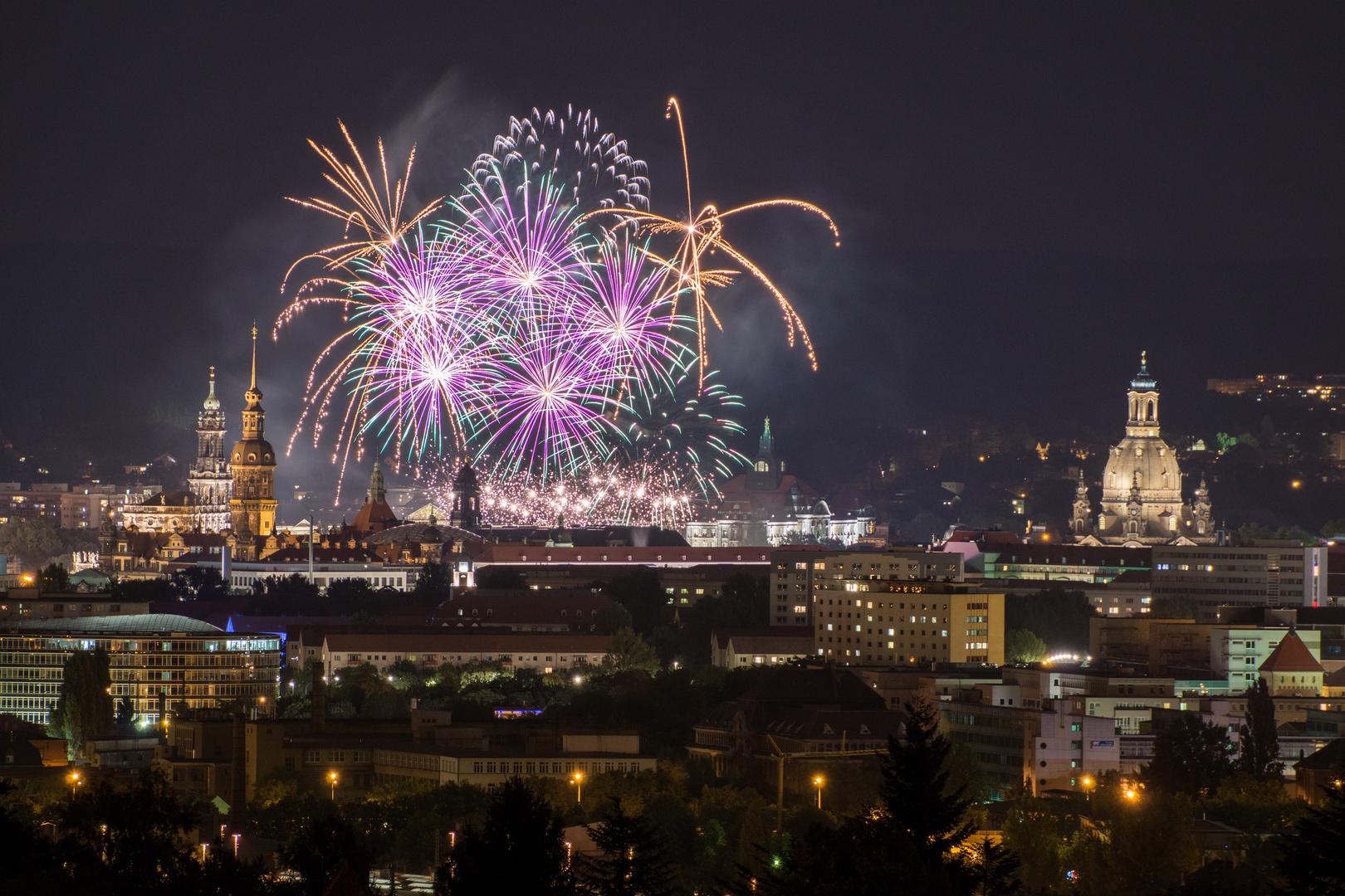 Feuerwerk Vom Dresdner Stadtfest 2014