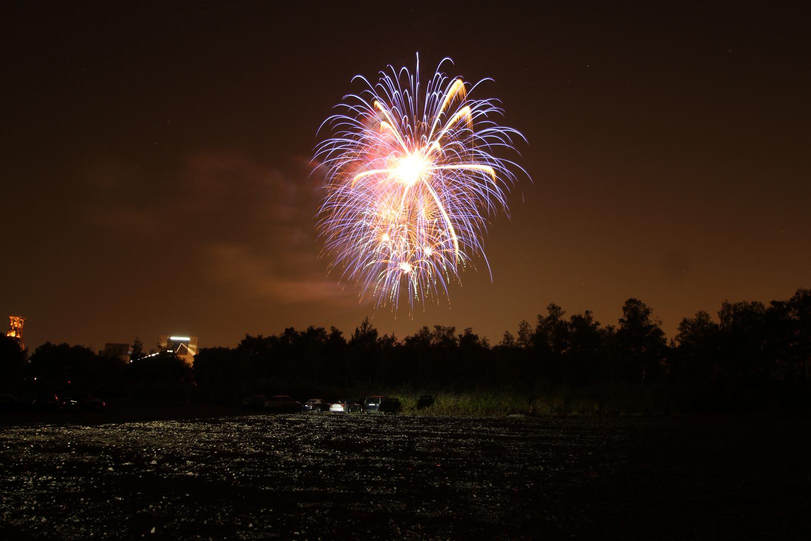 Feuerwerk Zechenfest Zollverein