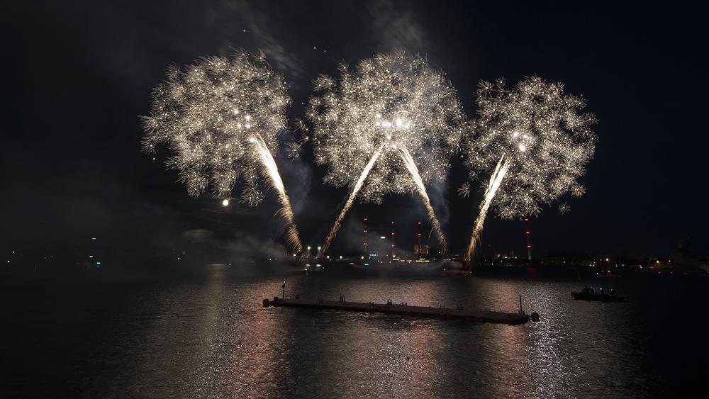 Feuerwerk zum 100. Geburtstag der kleinen Meerjungfrau