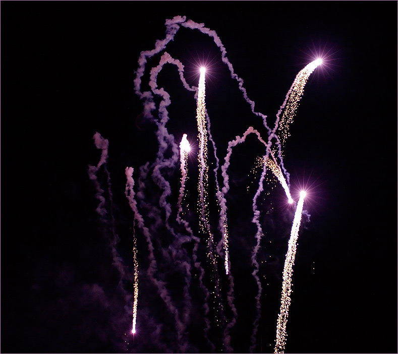 Feuerwerk zum Abschluss des Bürgerfest´s