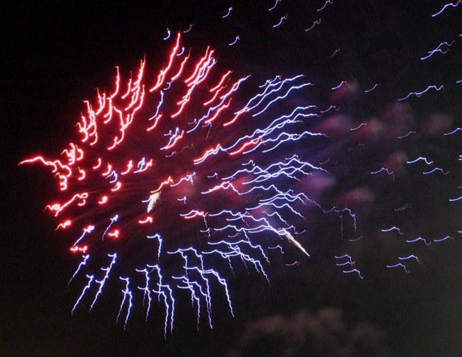 Feuerwerk zum Hafengeburtstag in HH