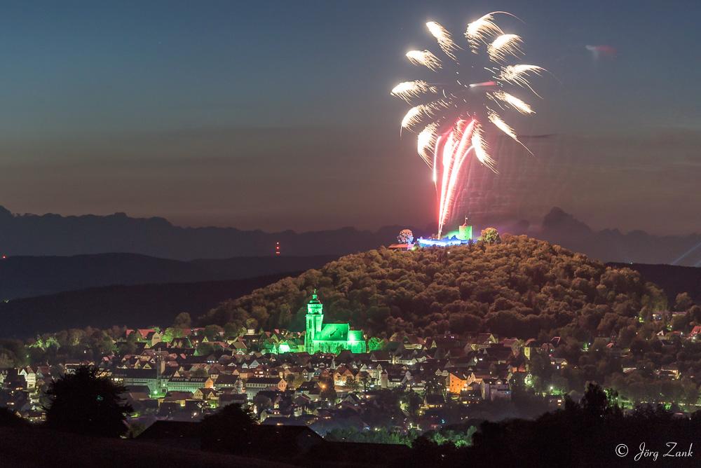 Feuerwerk zum Homberger Lichterfest II