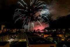 Feuerwerk zum Neujahr