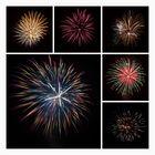 Feuerwerkcollage
