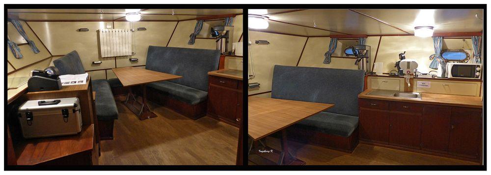 Feuierlöschboot - Aufenthalts-, Büro- und Schlafraum für das Personal