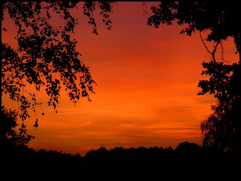 Feuriger Sonnenuntergang.....