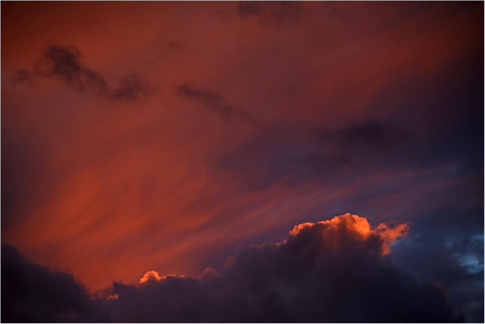 feuriges Himmelsspektakel