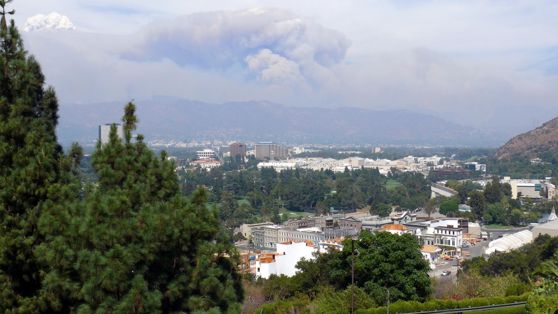 Feux sur les collines de LA