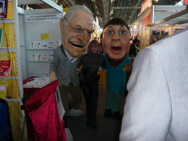 FFM-Buchmesse 10.-14.10.2007 - zwischen Angela Merkel & Edmund Stoiber