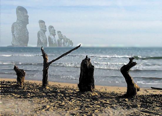 fiction : plage de Vias (Béziers)
