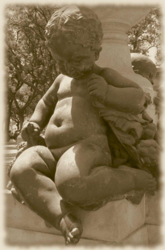 Figur am Springbrunnen