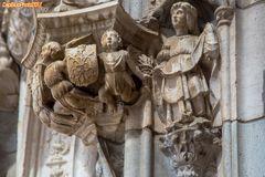 Figuren am Südportal Mosteiro dos Jeronimos