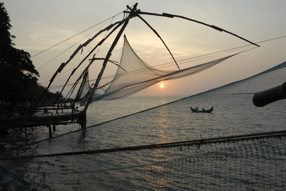 Filet de pêche en inde.