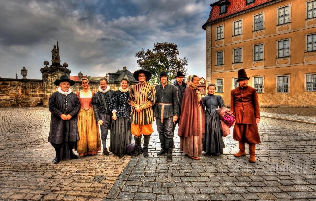 """Filmcrew von dem Film """"Die Seelen im Feuer"""" welcher in Bamberg gedreht wird"""