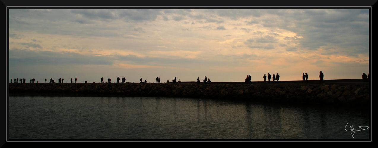 Fin d'après-midi sur la jetée