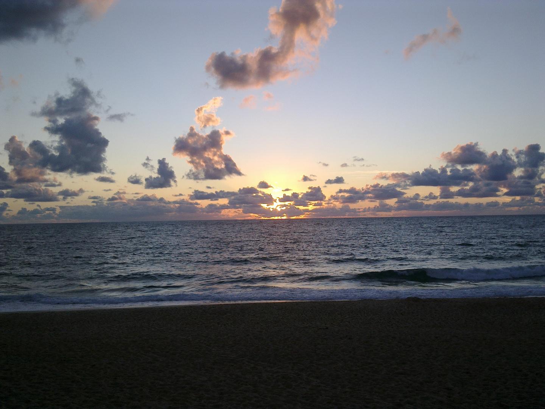 fin de journée à l'océan