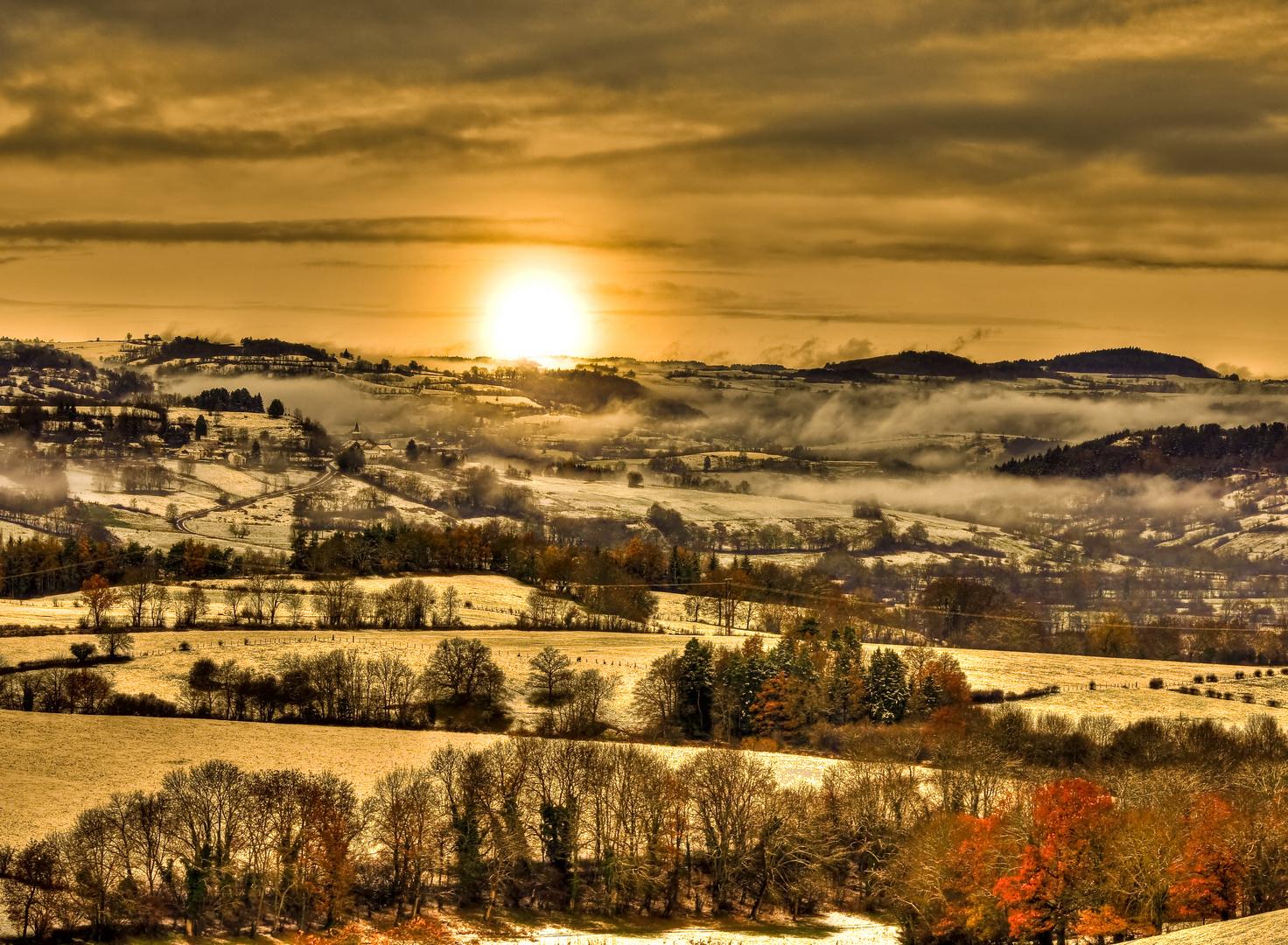 Fin de journée en Auvergne