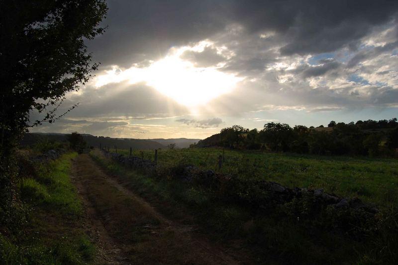 Fin de journée en Aveyron