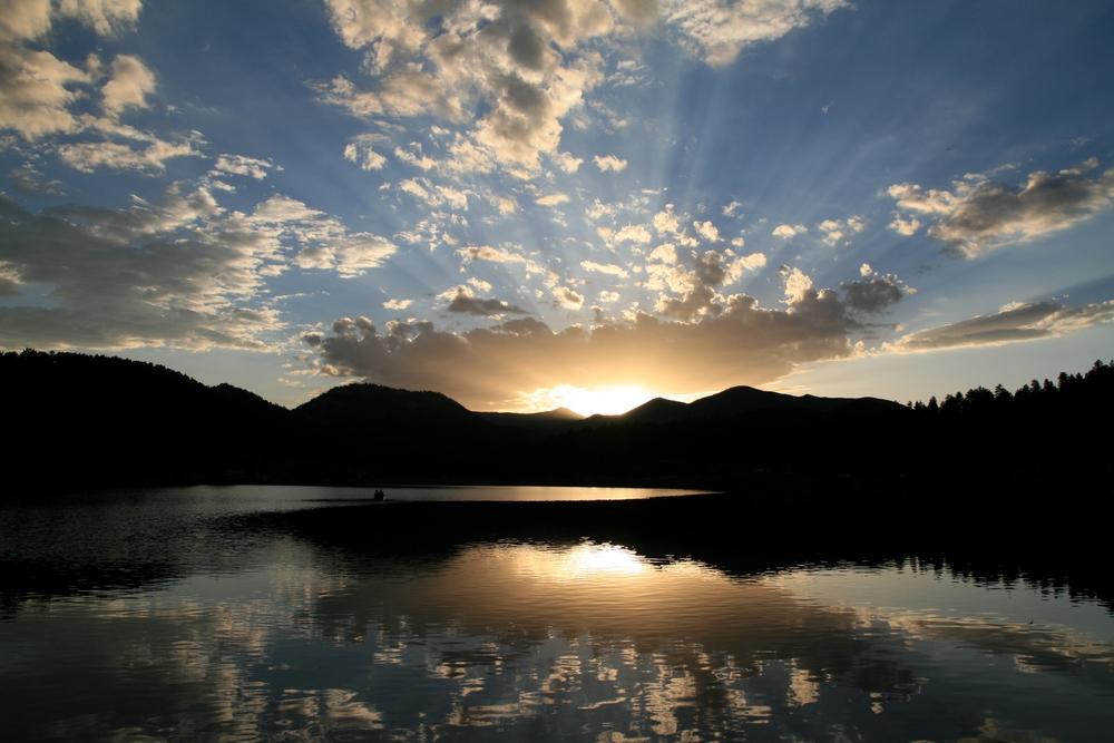 Fin de journée sur Evergreen Lake, Colorado