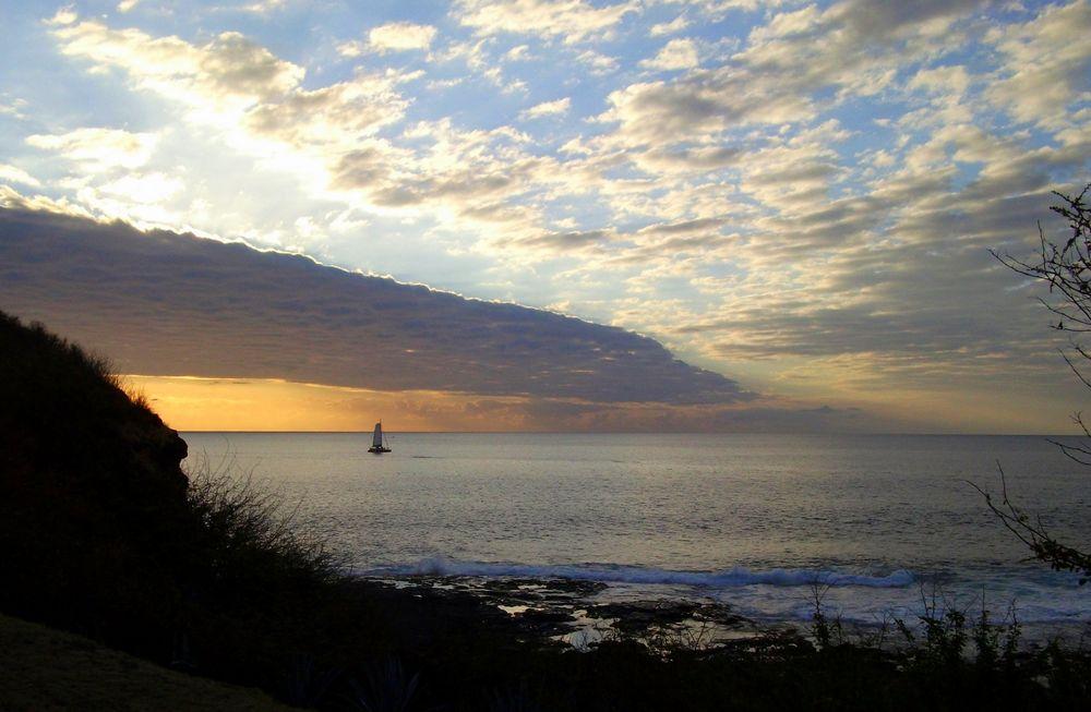 Fin de journée sur l'Océan Indien ....