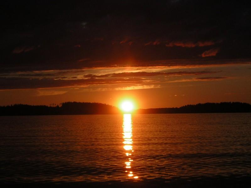 Finnischer Sonnenuntergang