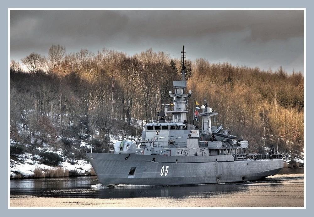Finnisches Marineschiff UUSIMAA