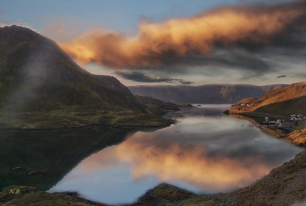 Fiordo en Cabo Norte (Noruega)