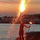 Fire juggler @ sunset, Cafe Mambo.jpg