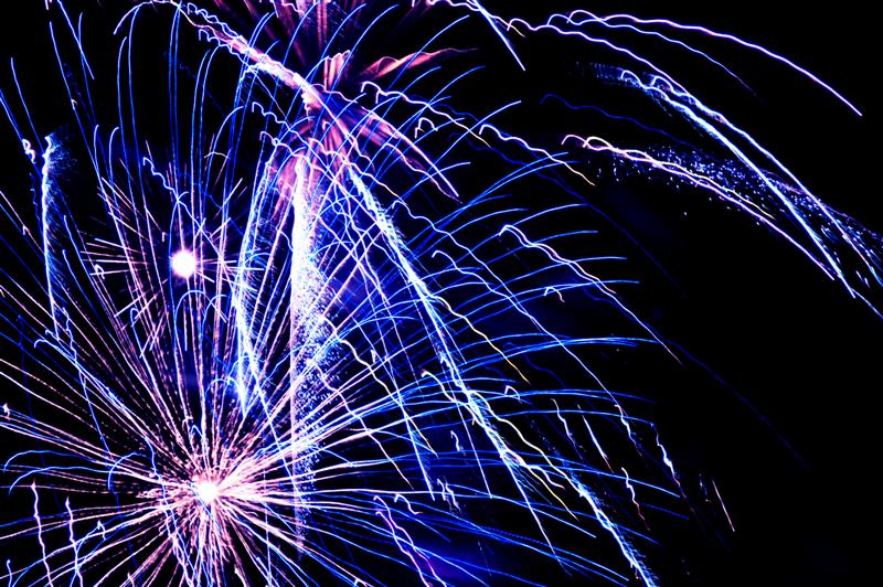 Fire works - Blue