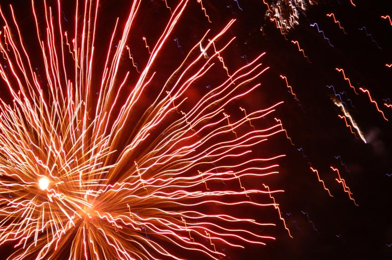 Fire works - Red