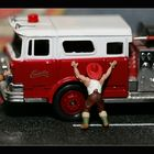 Firefighters polish their engines.....