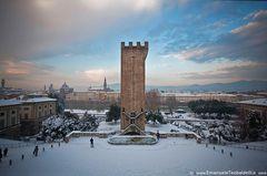 Firenze - la Torre si San Niccolo' con la neve