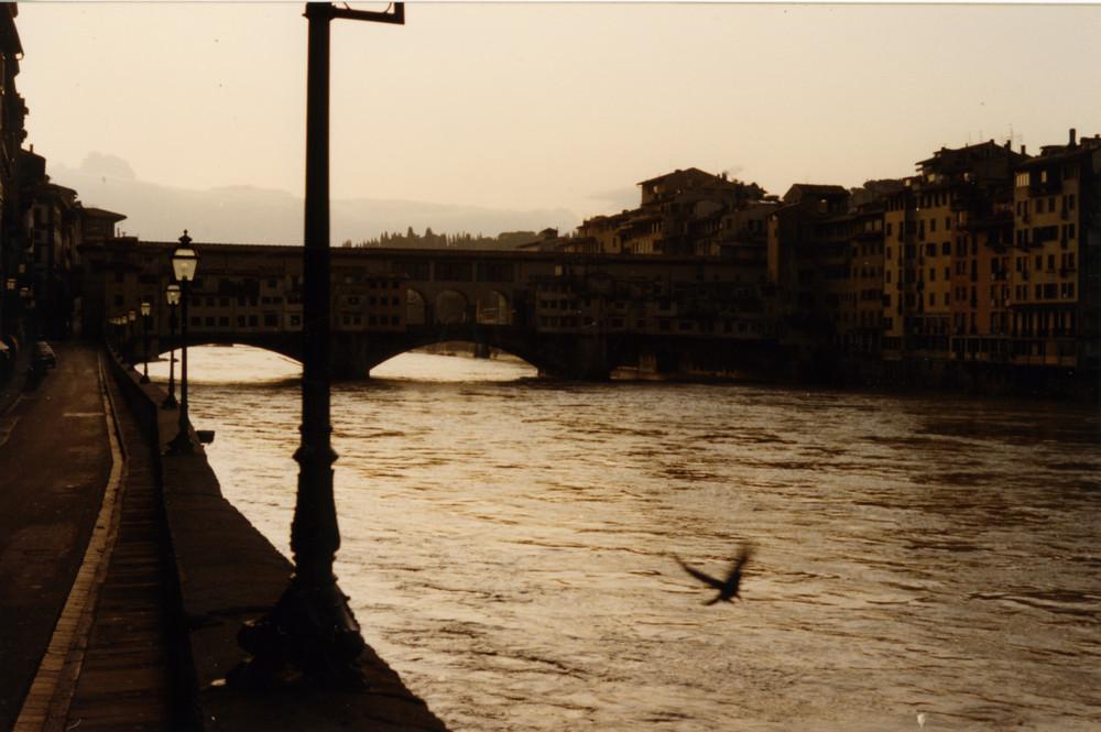 Firenze - Lungarno degli Acciaiuoli e Ponte Vecchio