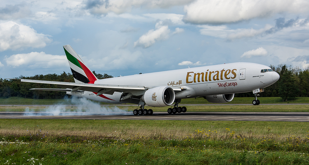 First Landing Emirates Sky Cargo