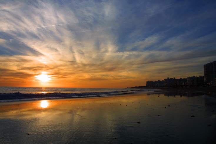 First sunset (aGain) in Rota (Cadiz) Spanien