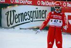 FIS-(Werbe)Weltcup - Michael Uhrmann und das Wernesgrüner : ...ups...