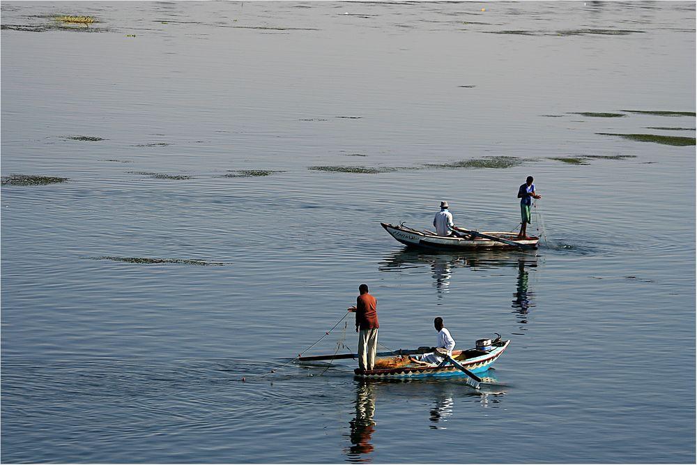 Fischen im Nil