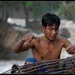 Fischer am Khon Phapheng, Laos