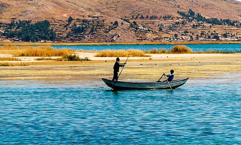 Fischer am Titicacasee