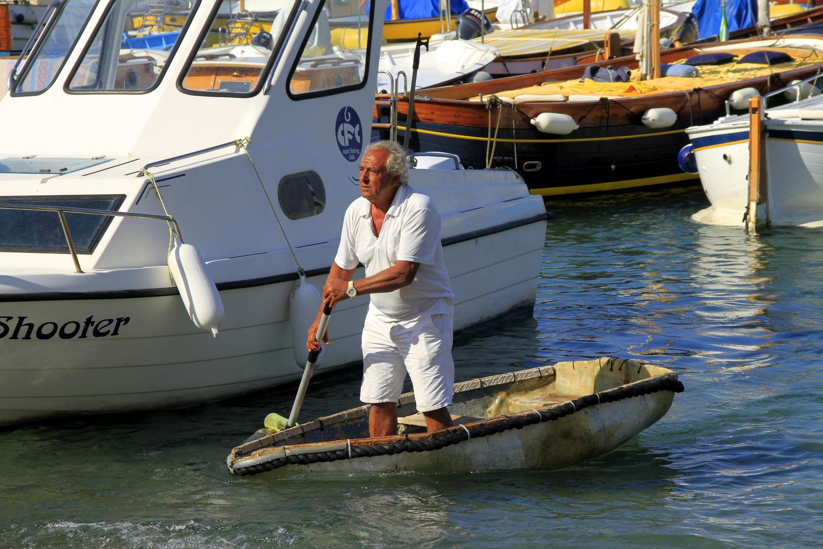 Fischer auf Capri