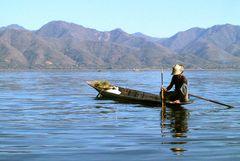 Fischer auf dem Inle- Lake