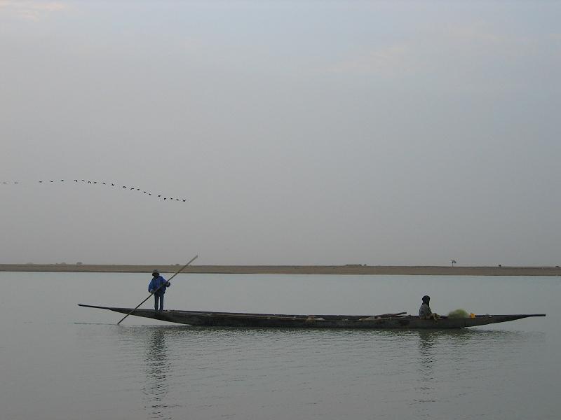 Fischer auf dem Niger