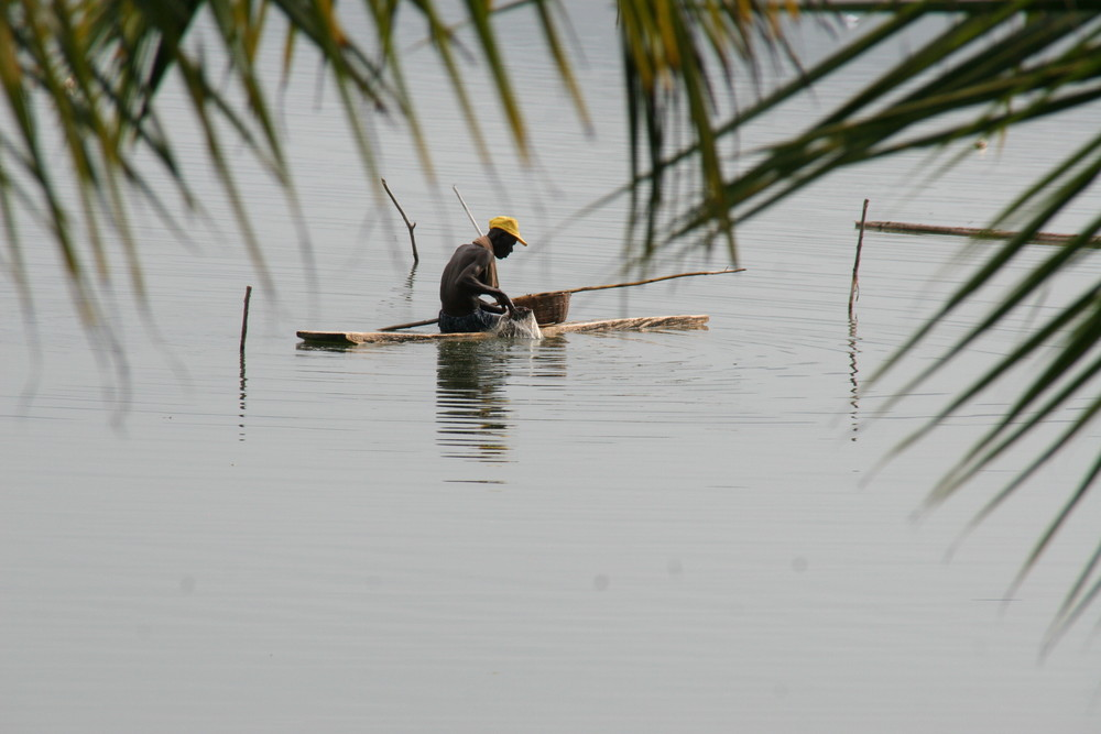 Fischer auf dem See Bosumtwi / Bosomtwe