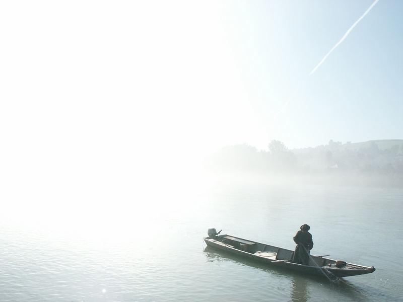 Fischer auf der Donau (Passau)