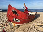 Fischerboot am Strand von Ahlbeck